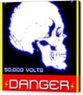 Danger High Voltage Sign Canvas Print