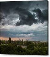 Dangerous Stormy Clouds Over Warsaw Canvas Print