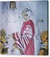 Daniel And Lion's Den Canvas Print