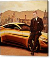 Daniel Craig As James Bond Canvas Print