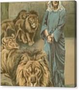 Daniel In The Lions Den Canvas Print