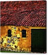 Danish Barn Watercolor Version Canvas Print
