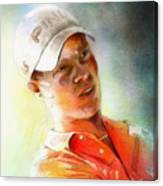 Danny Willett In The Madrid Masters Canvas Print
