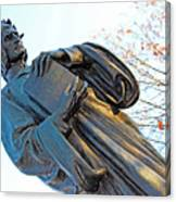 Dante In Meridian Hill Park Canvas Print