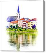 Danube Village Canvas Print