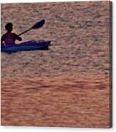 Danvers River Kayaker Canvas Print