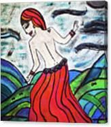 Danza De Mar Y Luna Canvas Print
