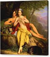 Daphnis And Chloe Canvas Print