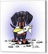 Dapple Doxie Destroyer Canvas Print