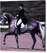 Dapple Grey Dressage Canvas Print