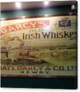 D'arcy's Old Irish Whiskey Canvas Print