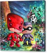 Funkos Daredevil And The Phantom In The Jungle Canvas Print