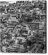 Darjeeling Monochrome Canvas Print