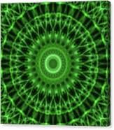 Dark And Light Green Mandala Canvas Print