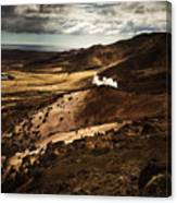 Dark and steaming Iceland Canvas Print