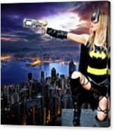 Dark City Of The Bat Canvas Print