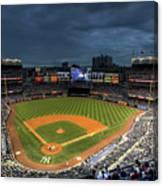 Dark Clouds over Yankee Stadium  Canvas Print