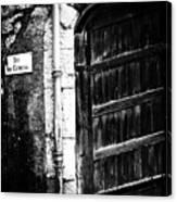 Dark Door Canvas Print
