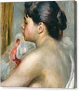 Dark-haired Woman Canvas Print