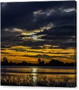 Dark Lake Sunrise Canvas Print