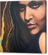 Dark Soulful Latin Eyes          From The Attitude Girls Canvas Print