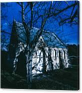 Dark Mysterious Church Canvas Print