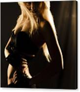Dark Mysterious Dancer Canvas Print