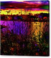 Dark Psychedelic Sunset Canvas Print