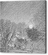 Dark, Rainy Night Canvas Print