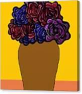 Dark Rose Folk Art Canvas Print