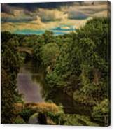Dark Skies Over The Avon Canvas Print