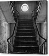 Dark Stairs To Attic - Urban Exploration Canvas Print