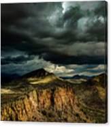 Dark Storm Clouds Over Cliffs Canvas Print