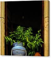 Darkened Window Canvas Print