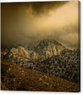 Darkness Falls Over The Sandias Canvas Print