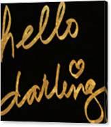 Darling Bella I Canvas Print