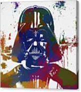 Darth Vader Paint Splatter Canvas Print