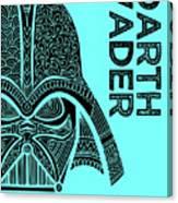 Darth Vader - Star Wars Art - Blue Canvas Print