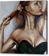 Dasha. Little Black Dress.  Canvas Print