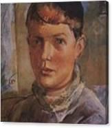 Daughter Of The Artist 1933 Kuzma Sergeevich Petrov-vodkin Canvas Print