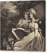 Daughters Of Sir Thomas Frankland Bart (the Sisters) Canvas Print