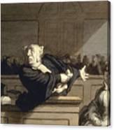 Daumier: Advocate, 1860 Canvas Print