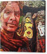 Dave Alber Self-portrait At Swayambunath, Kathmandu, Nepal Canvas Print