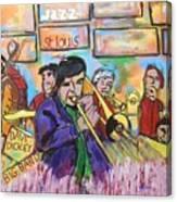Dave Dickey Big Band Canvas Print