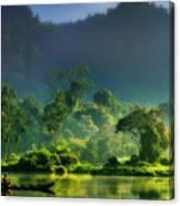Dave Ruberto - Wonderful Lake Green Nature Landscape  Canvas Print