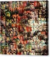 David Bowie Collage Mosaic Canvas Print