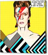 David Bowie Pop Art Canvas Print