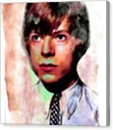 David Bowie Teenager Aquarelle  Canvas Print