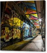 David Bowie Tribute Central Square Cambridge Graffiti Down The Tunnel Canvas Print
