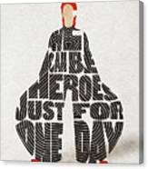 David Bowie Typography Art Canvas Print